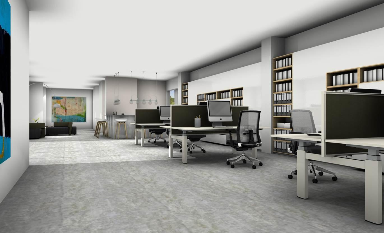 Visualisatie en interieurarchitectuur kantoorinrichters for Ontwerp kantoorinrichting